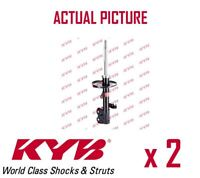 2 x FRONT AXLE SHOCK ABSORBERS PAIR STRUTS SHOCKERS KYB OE QUALITY 333389