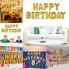 Happy Birthday 13Pcs Letters Aluminum Foil Membrane Balloons Children Party Deco