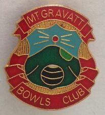 Mt Gravatt Bowling Club Badge Rare Vintage (L2)