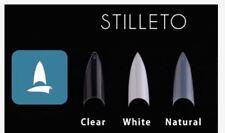 Decori Adoro False Artificial Tips Nail WHITE - Stiletto 100 pcs mia secret