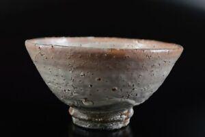 L7807: Japanese Hagi-ware White glaze TEA BOWL Green tea tool, auto Tea Ceremony
