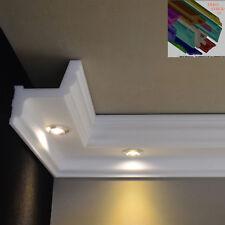 "Stuckleisten Stuckprofil LED Profil 14 Meter + 4 Stk. 90° I-Ecken Dekor ""Lina"""