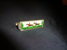 Tie Clip Clasp Horse Racing Theme Jockey Jewelry Steeplechase Polo Vintage Bar