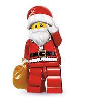 GENUINE LEGO Series 8 SANTA Minifigure Father Christmas Mini figure #10 Rare CMF