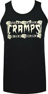 The Cramps Mens Psychobilly Tank Top Garage Punk Skulls