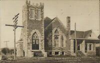 Shinglehouse PA First Baptist Church c1910 Real Photo Postcard