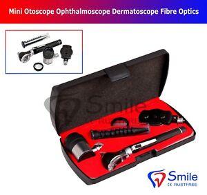 Mini Otoscope Ophthalmoscope Dermatoscope Fiber Optics 3 IN 1 Medical ENT Set CE