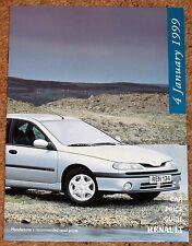 1998-99 RENAULT RANGE PRICE LIST - Mint Brand New Old Stock! -Clio Laguna Espace