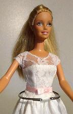 BRIDE Barbie Blonde 1998 {Lace Wedding Dress} Ballet Slippers VERY NICE!