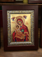 Our Lady Theotokos The Baby Keeper- handmade Greek orthodox  byzantine icon