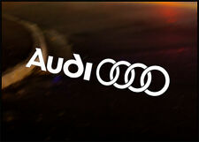 AUDI Rings JDM Decal vinyl sticker, A2 A3 A4 Quattro TDI
