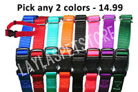 """(2) Nylon 3/4 """" Wide Replacement Dog Collar Strap For Stubborn Dog Stay + Play"""