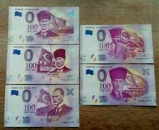 10 x 5 pieces set , total 50 Notes -  Euro Souvenir - Turkey - UNC - 1919 series