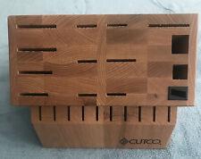 New listing Cutco Signature Set Oak Knife Block (24)Slot