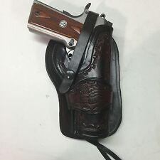 "Colt 1911 5"",Springfield,Remington  Leather Western Holster  Antique Finish"