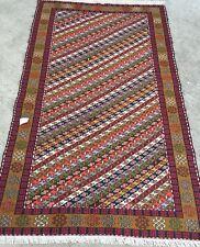 Kilim Tapis Tissé laine Suzani Tappeto Teppich Rugs 200x120cm Carpet Kelim