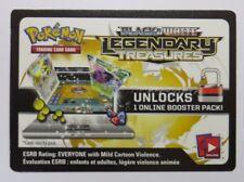 5 x Black & White LEGENDARY TREASURES Online Booster Codes - Pokemon TCG