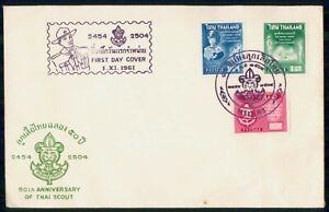 MayfairStamps Thailand 1961 50th Anniversary Thai Boy Scout Organization First D