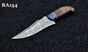 New Arrivel Custom Handmade Damascus Steel Hunting Skinner Knife Wood & Resin.