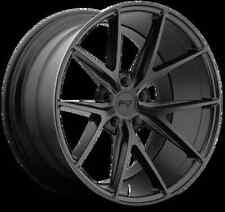 Niche Misano M117 18X8 5X114.3 +40 Black Matte Rims Fits 370Z G37 Prelude Is250