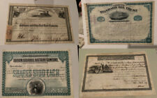 Vintage Bond Lot of 4 Standard Oil Rockefeller Edison Flagler Biddle Scripophily