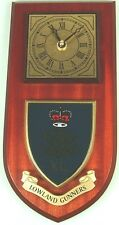 40TH REG ROYAL ARTILLERY LOWLAND GUNNERS CLASSIC HAND MADE TO ORDER WALL CLOCK