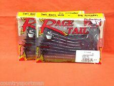 "STRIKE KING Rage Tail 7"" Thumper (10/pk/20 ttl) #RGTW7-125 Blue Fleck (2 pks)"