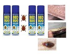 3 x 200ml PestShield Indoor Bed Bug Flea Killer Treatment Spray Carpet Mattress