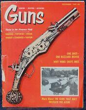 Magazine *GUNS*, November 1962 !!! SAVAGE Model 110MC-L RIFLE - Southpaw Gun !!!