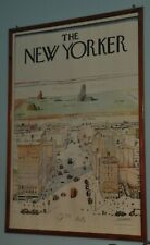 ORIGINAL RARE ADV POSTER VINTAGE SAUL STEINBERG THE NEW YORKER 1976 100X70