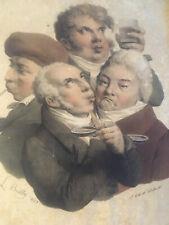 Belle lithographiera Dégustation  1825 signé L Boilly Vin Vigne Alcool Cadre