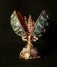 St Petersburg Russian Faberge Egg: Romanov Egg with Cathedral, 2.6""