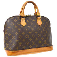 LOUIS VUITTON ALMA HAND BAG VI0969 PURSE MONOGRAM CANVAS M51130 VINTAGE 34822