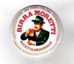 "Birra Moretti Jumbo Fridge Magnet Beer Mat Bar Keg 3"" 75mm Blade Sub Badge 2"