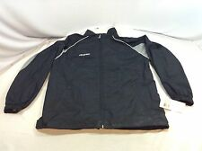 CCM Warm Up Jacket Full Zip Youth Extra Large Black / Grey New (AP42) IHH
