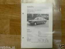 SUB01-SUBARU 1400 DL COACH, SEDAN,STATIONCAR, GL COUPE,