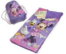 Saco De Dormir Para Niñas Con Mochila De Cordón Minnie The Mouse De Disney