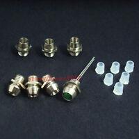 100pcs 3mm Chrome Metal LED Bezel Holder Panel Display LED Holders New