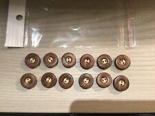 lotto bottoni nuovi 12 bottoni misto legno ARTICOLI MERCERIA