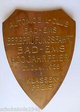 Plakette Kühler Autoplakette --AC Bad Ems 600 Jahrfeier von 1925--