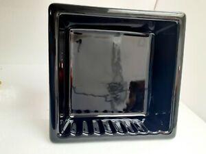 Recessed Black Ceramic Soap Niche Shelf Shampoo Compartment Enclosure Porcelain