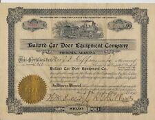 1910 Birmingham Alabama Phoenix Arizona stock BULLARD Car Door Equipment Company