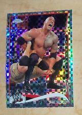 THE ROCK -  2014 Topps Chrome WWE #40 X-fractor