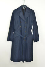 Brooks Brothers Woman's sz 6 double breast navy blue Trench Rain Coat, EUC