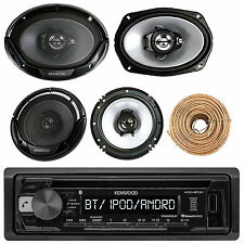 "KDC-BT21 CD Bluetooth Radio, 6x9"" and 6.5"" Kenwood Speakers, 50FT Speaker Wire"