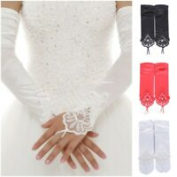 Bridal Lace Pleated Gloves Wedding Fingerless Gloves Fashion Embroidered Gloves