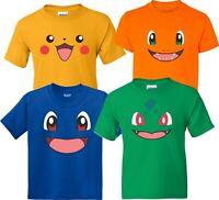 Pokemon  Halloween faces Birthday Halloween Christmas family T-Shirts