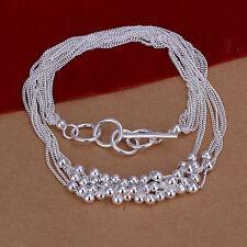 Cadena de cuello dama Bolas Joyería Plata Esterlina 925 45cm Collar NUEVO DK002