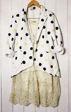 C-M  ITALY Sweat Cardigan Blazer Jacke Gr L Glitzer Vintage Neu