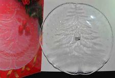 "Mikasa Crystal Hostess Platter Frosted Christmas Tree ""NOEL""  14.5"" NIB"
